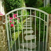 Outdoor accessories include gates, paths, pergolas/arbors and water features.